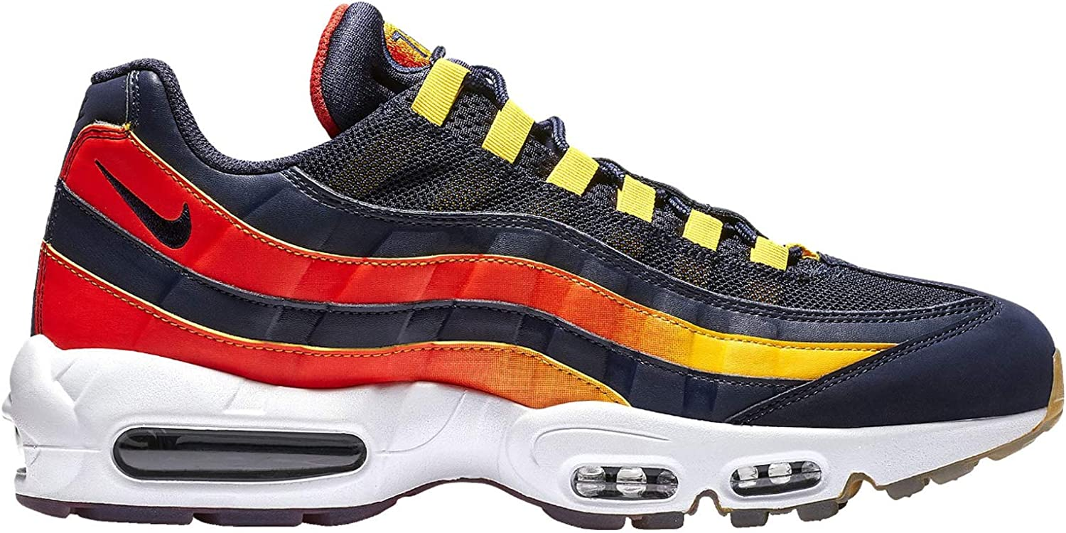 materno Hacia abajo Certificado  Amazon.com | Nike Men's Air Max 95 Blackened Blue/Blackened Blue Leather  Running Shoes 8 D(M) US | Road Running