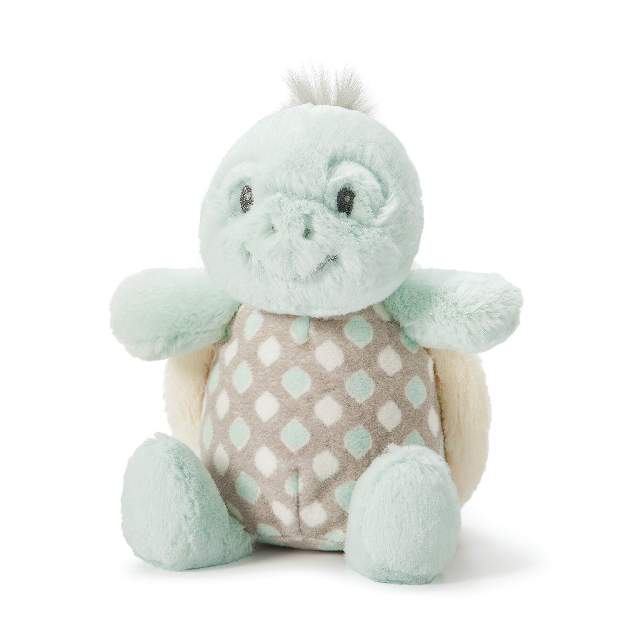 Nat and Jules Smiling Taddles Turtle Spotted Blue Children's Plush Stuffed Animal Rattle