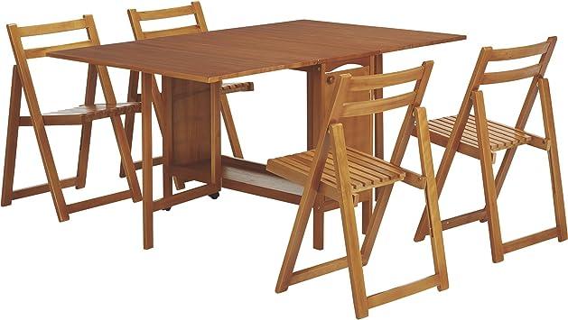 Amazon.com - Kotula\'s 5-Piece Space-Saving Dining Set, Table ...