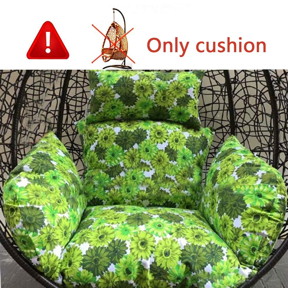 MonthYue Hanging Egg Hammock Chair Cushions, Without Stand Swing Seat Bird Nest Chair Cushion Non-Slip Padded Seat for Garden Cradle,E by MonthYue