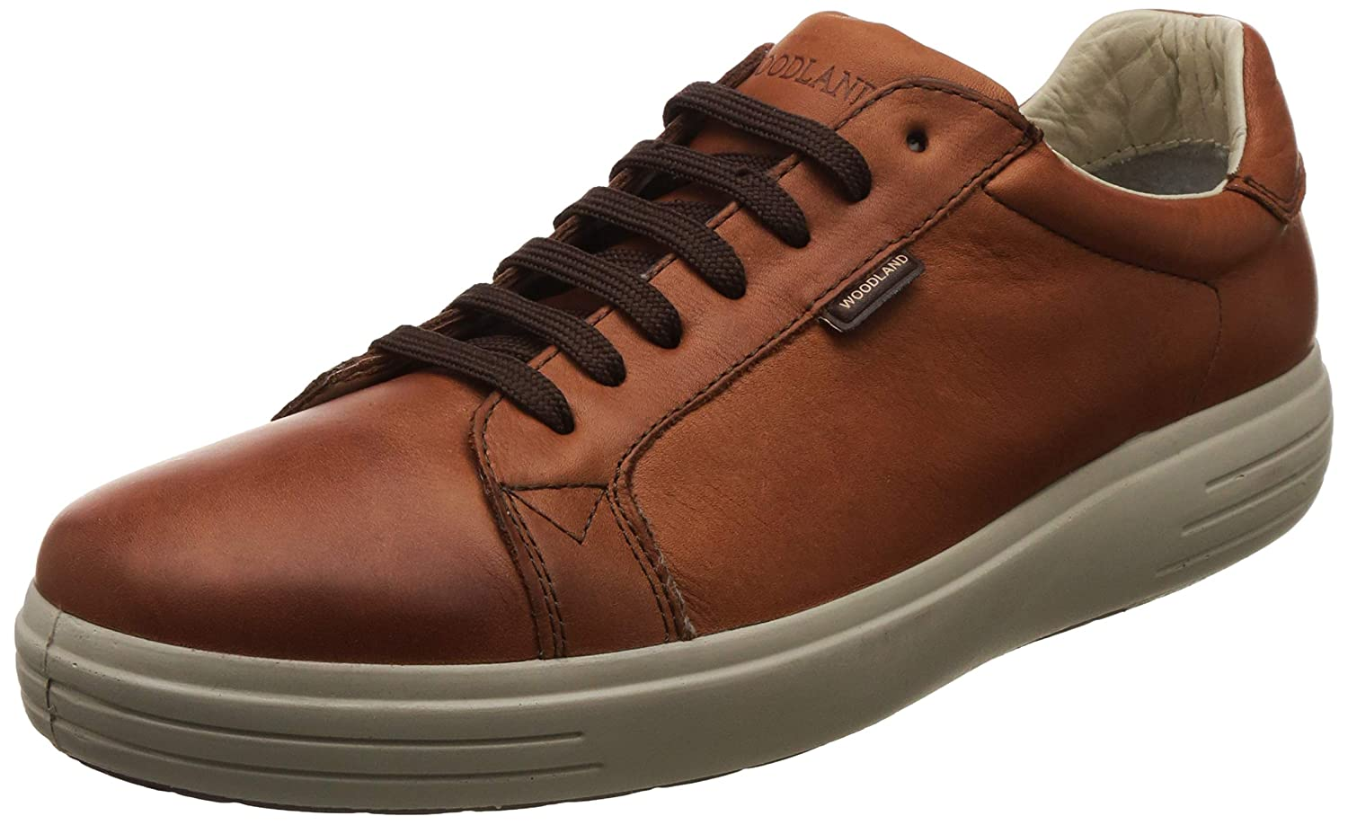 Men Rust Brown Leather Casual Shoes
