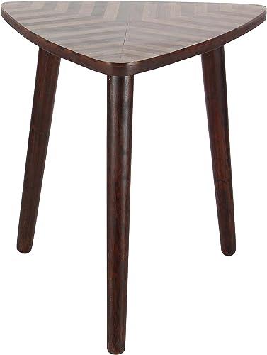 Deco 79 Wood Triangle Table, Dark Brown