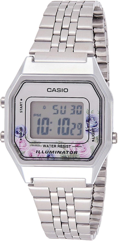 Casio Reloj Digital para Mujer de Cuarzo con Correa en Acero Inoxidable 4549526178528