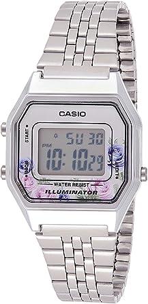 Casio Reloj Digital para Mujer de Cuarzo con Correa en Acero ...