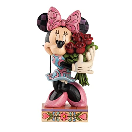 Enesco Disney Traditions by Jim Shore Minnie Mouse with Roses Figurine, 6.5-Inch