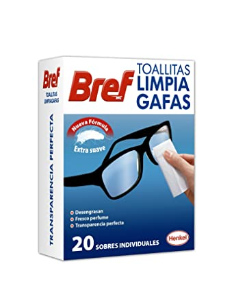 Bref - Toallitas limpia gafas, 20 unidades