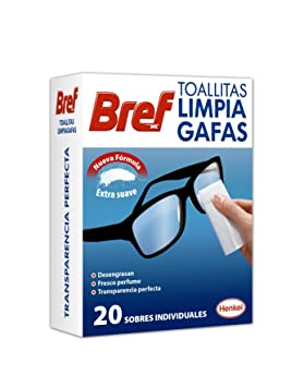 Bref - Toallitas limpia gafas, 4x20 toallitas: Amazon.es: Salud y cuidado personal