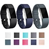 Bands for Fitbit Charge 2, I-Smile Adjustable Silicone Wristhband with Secure Buckle for Fitbit Charge 2(No Tracker, Replacement Bands Only)