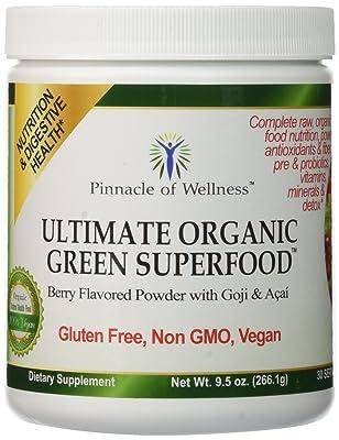 Pinnacle of Wellness Ultimate Organic Green Superfood Powder