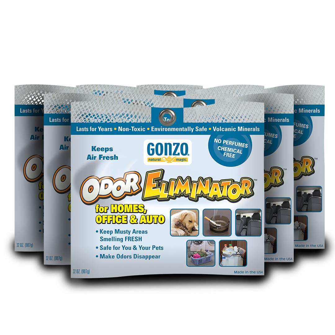 Gonzo Odor Eliminating Rocks for Homes - 6 Pack