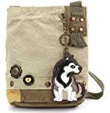 Chala Patch Cross-Body Women Handbag, Sand Color Canvas Messenger Bag