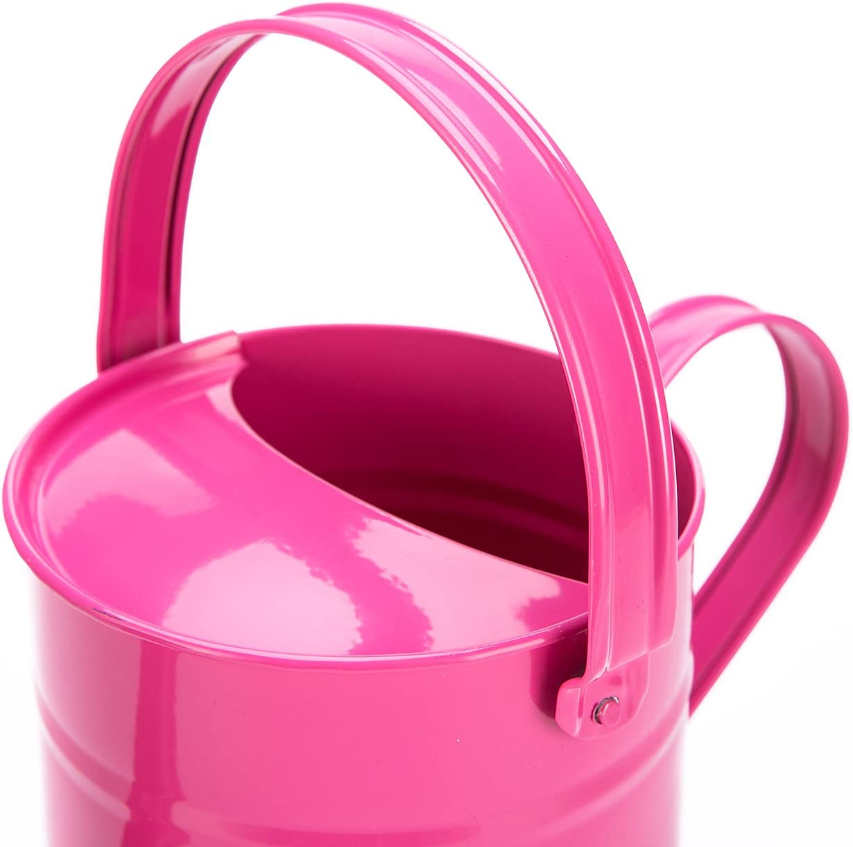 Sungmor 1.5 Liter Multi-Color Metal Watering Can,Kids Children Garden Watering Bucket with Anti-Rust Powder Coating Treatment and Beautiful Blue Color