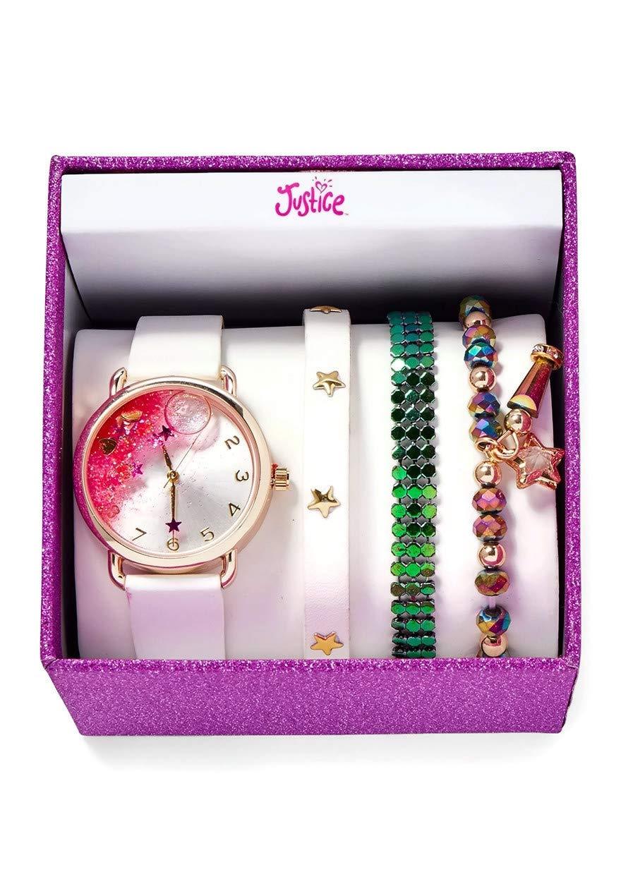Justice Stars Watch & Bracelet Set