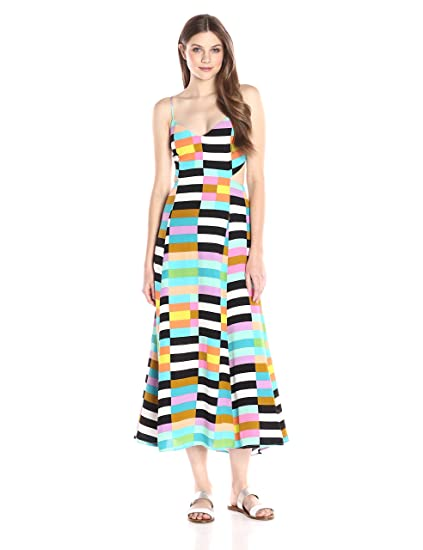 a2d6f9484c2 Mara Hoffman Women s Flag Stripe Rainbow Maxi Dress