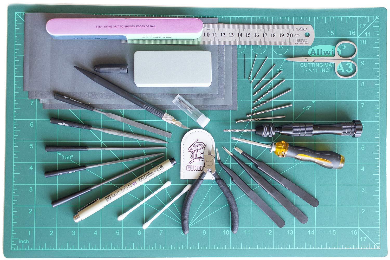 9Pcs Modeler Basic Tools Craft Metal Set For Gundam Car Model Building Kit