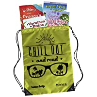 Summer Bridge Activities - Essentials Backpack with Workbook, 4 Reading Books, Flash Cards and Drawstring Bag for Summer Learning Loss, Grades 4 - 5