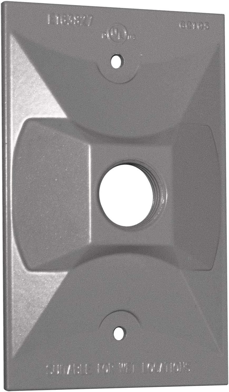 Bronze Sigma Electric 14371BR 1//2-inch 1 Hole 1-Gang Rectangular Lamp Holder Cover
