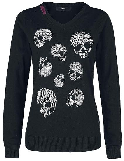 d28957978f387d Black Premium by EMP Sweet Lorraine Knit Jumper Black  Amazon.co.uk   Clothing
