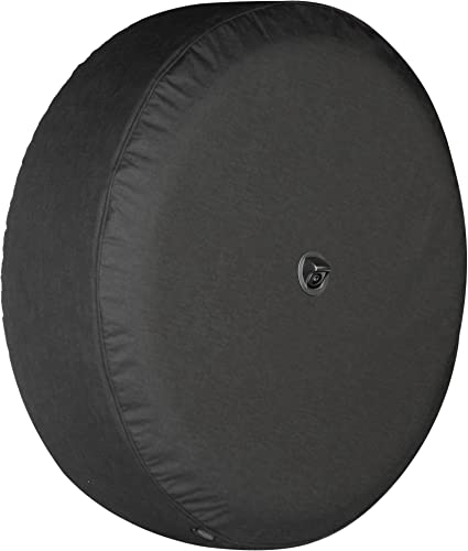 Boomerang – 32 Soft JL Tire Cover for Jeep Wrangler JL with Back-up Camera – Sport Sahara 2018-2020 – Black Denim Vinyl – Integrated Camera Hood