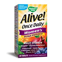 Nature's Way Alive! Once Daily Women's Multivitamin, Ultra Potency, Food-Based Blends...