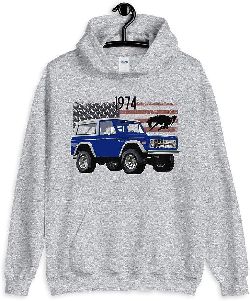 1974 Blue Ford Bronco Unisex Hoodie
