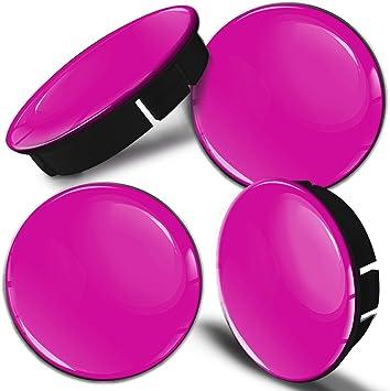 Biomar Labs 4 X 60mm 55mm Universal Silikon Nabenkappen Kappen Pink Zyklamen Felgendeckel Radkappen Radnabendeckel Nabendeckel Auto Tuning C 9 Auto