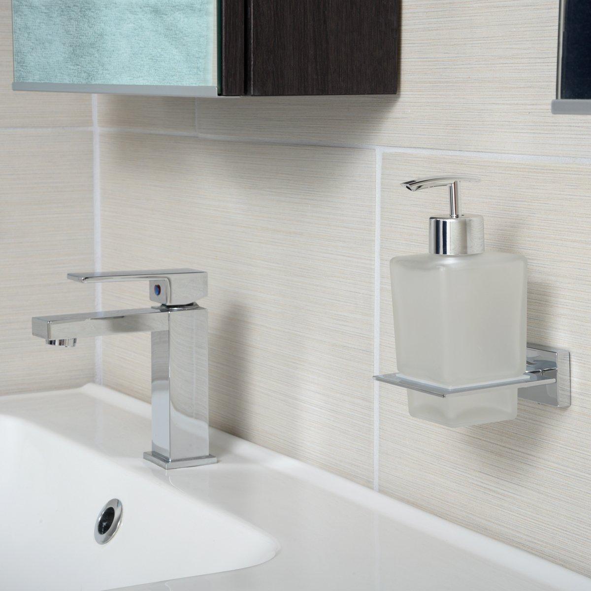 AmazonBasics - Dispensador de jabón, diseño europeo, acabado ...