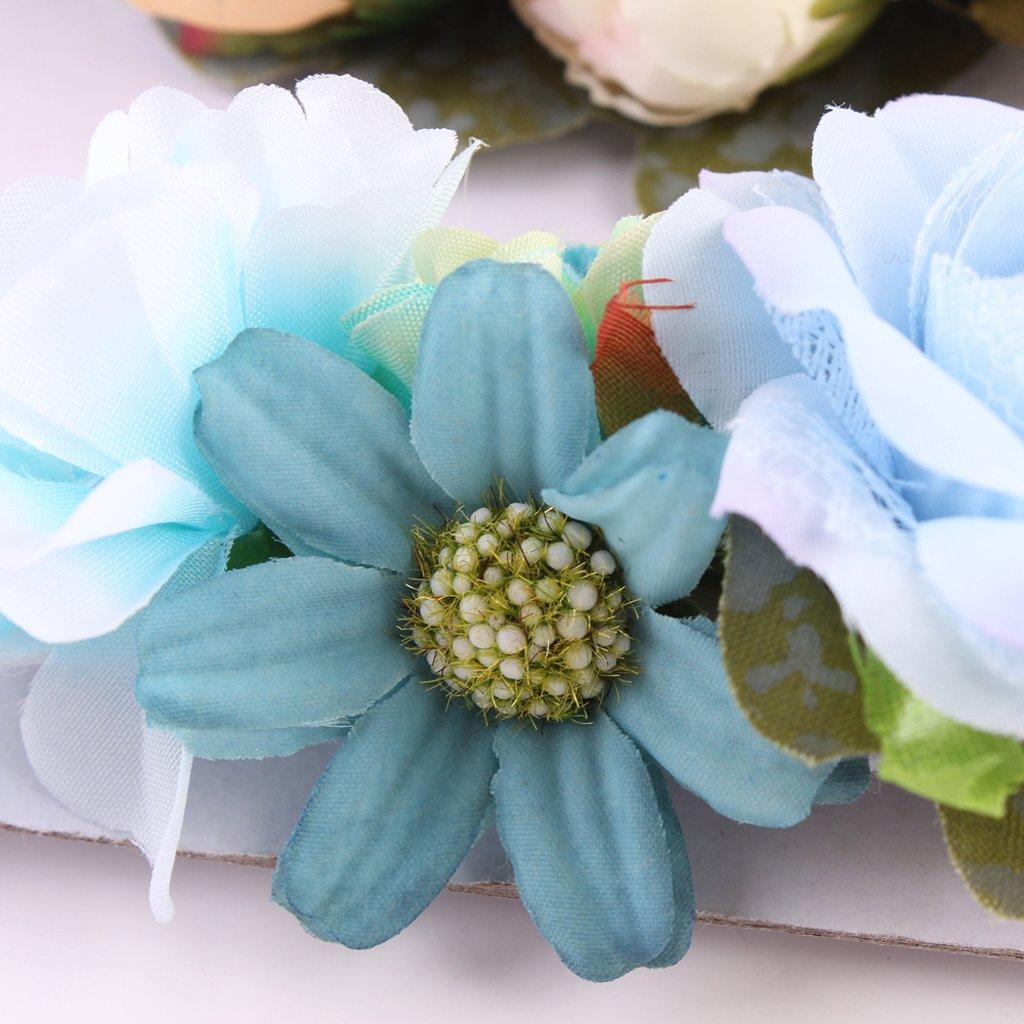 wie beschreiben Stil 1 MagiDeal 3 St/ück Niedlich Blumen Baby M/ädchen Haarband //Stirnband Fotografie