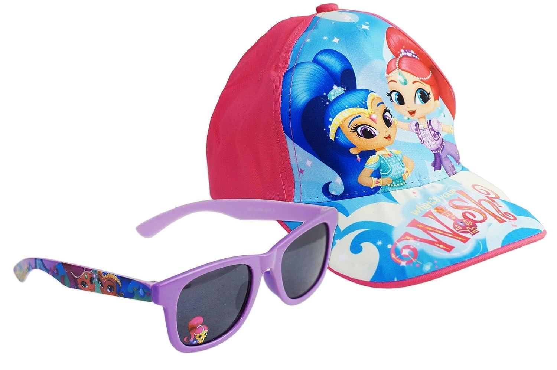 Shimmer and Shine - Set Mare Estate 2pz - Cappello con Visiera e Occhiali da Sole - Prodotto Originale con Licenza Ufficiale