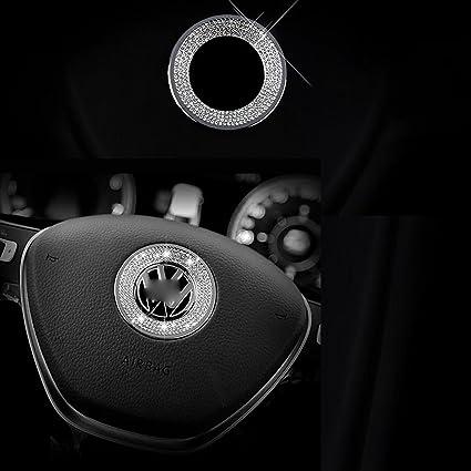 1 Stück 3d Strass Auto Lenkrad Logo Dekoration Aufkleber Ring Aufkleber Aufkleber Für Vw Volkswagen Auto