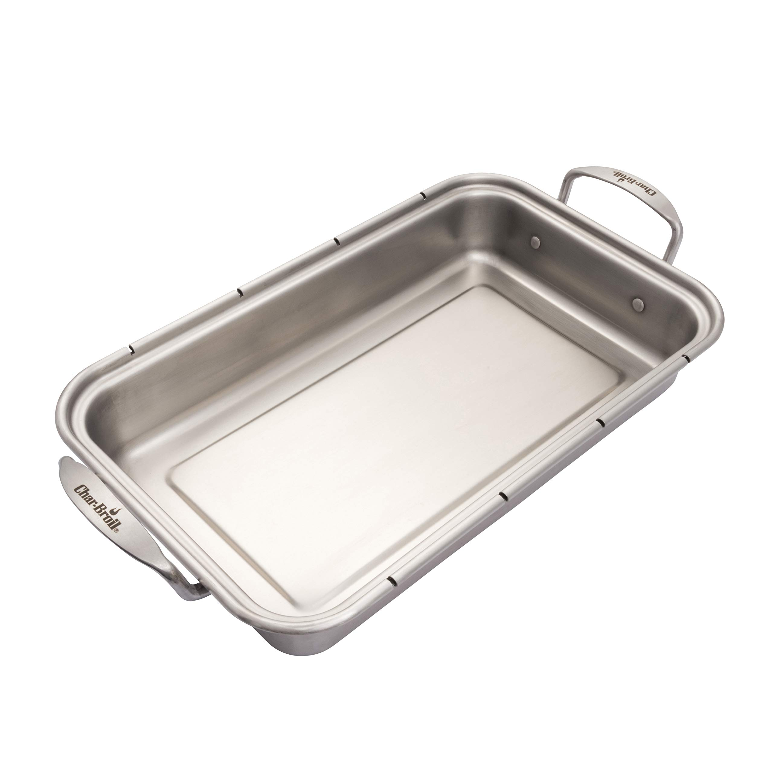 Char-Broil 3526981P04 Grill+ Roasting Pan & Cutting Board, Silver by Char-Broil (Image #1)