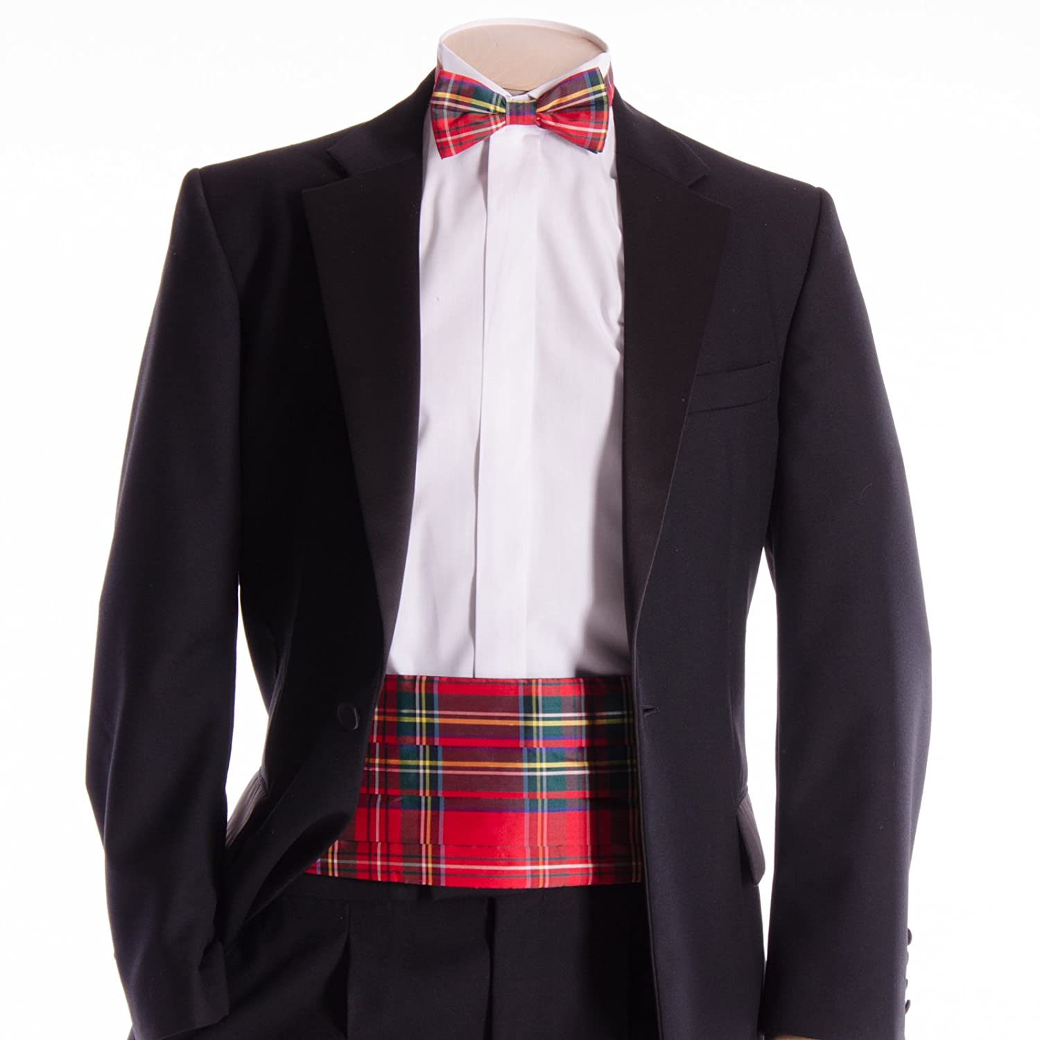 Silk Cummerbund and Bow Tie royal Stewart Modern