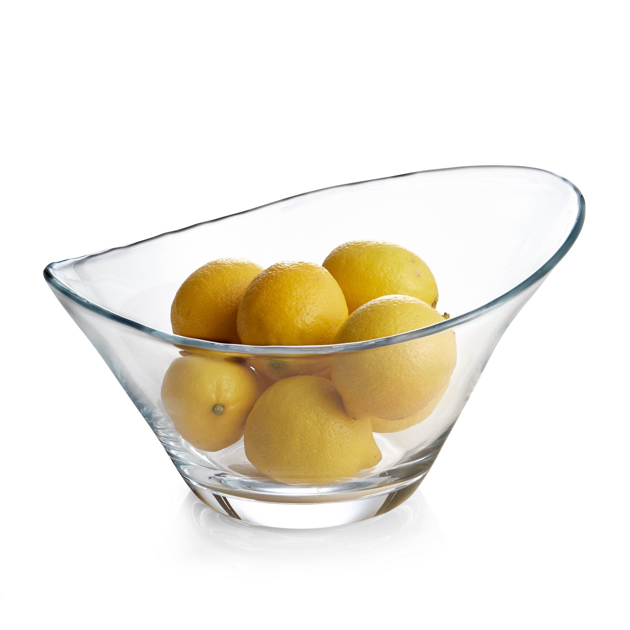 """Nambe Moderne Glass Bowl, 12"""""""