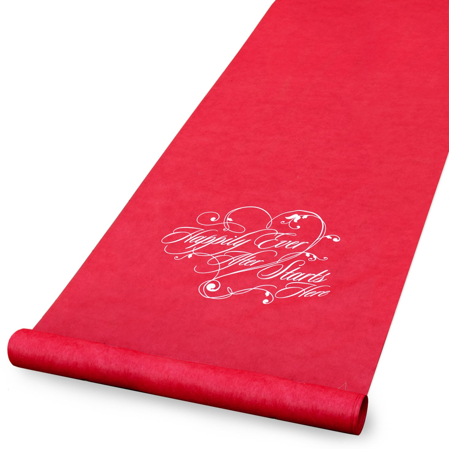 Hortense B. Hewitt Aisle Runner Wedding Accessories, Red Happily Ever After 30051