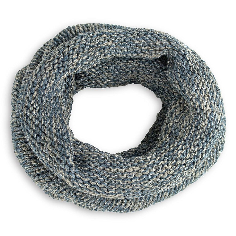StylesILove Oversized Two Tone Knit Tube Infinity Scarf