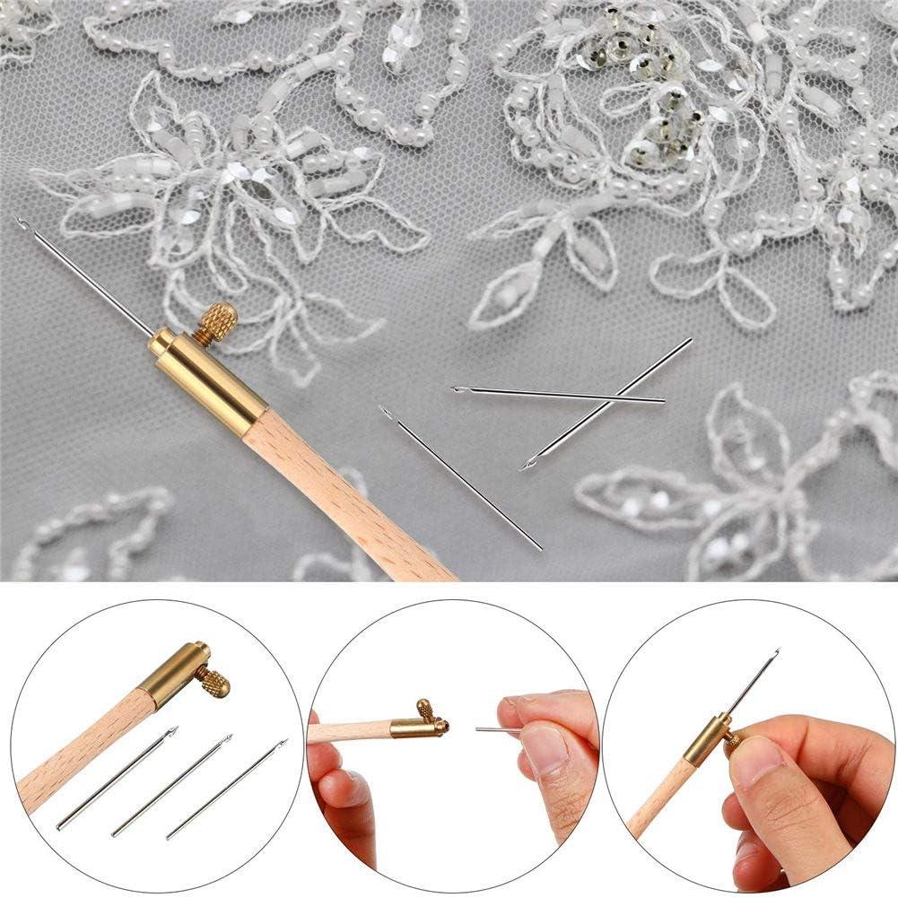 Queenback Tambour Haken mit 3 Nadeln Set 70//100//120 Stickereien Perlung Geh/äkelt DIY Werkzeuge
