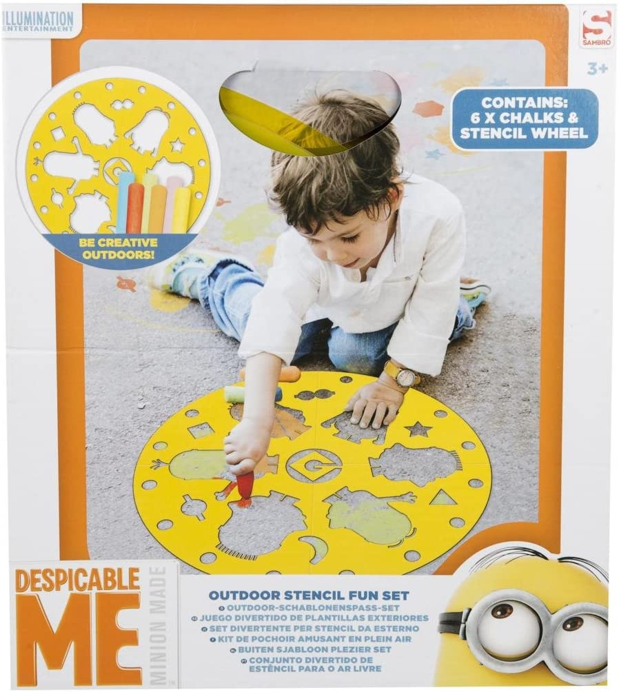 Multicolour Sambro MIN8-4333 Outdoor Stencil Fun Set