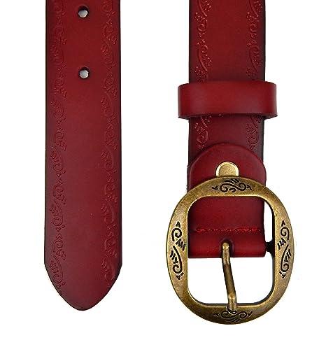 Ella Jonte ceinture femme rouge en cuir avec boucle à ardillon 3,3 cm  largeur  Amazon.fr  Vêtements et accessoires 602d3d70b93