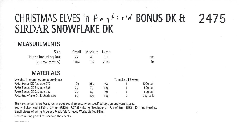 Amazon.com: Sirdar/Hayfield Bonus DK & Snowflake DK Knitting Pattern ...