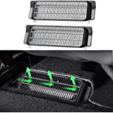 BASENOR Tesla Model 3 Backseat Air Vent Cover Air Flow Vent Grille Protection Set of 2