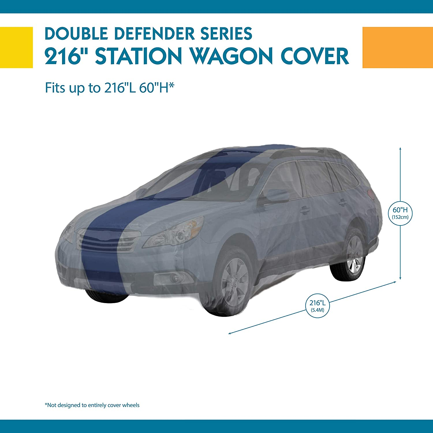 Duck Covers Double Defender Station Wagon Cover for Wagons up to 15 4 A2SW184