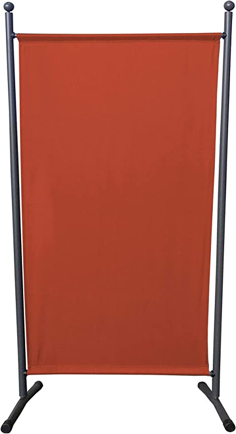 QUICK STAR Paravent 180 x 78 cm tela separador de ambientes partición jardín grande Biombo tabique balcón privacidad Rojo Naranja: Amazon.es: Jardín