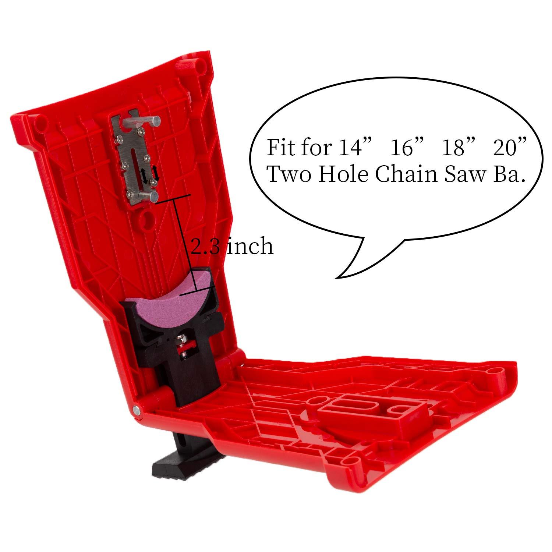 18in Rot 20in Zwei Loch Kettens/ägenstange 16in LUTER Kettens/ägensch/ärfer Kettens/äge Messersch/ärfer S/äge Kettenwerkzeug mit einem austauschbaren Sch/ärfstein Passen f/ür 14in