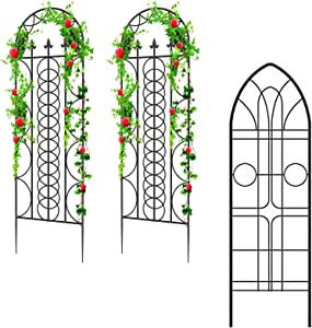 "Amagabeli 2 Pack Large Garden Trellis 71"" x 21""Bundle Garden Trellis for Potted Plants GTP006 72""x21"""