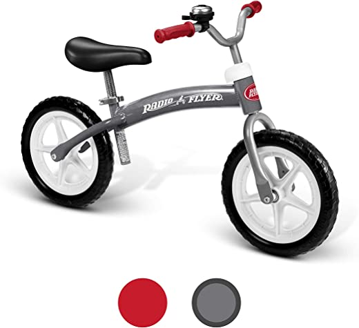 Radio Flyer Balance Bike Glide and Go, Gray
