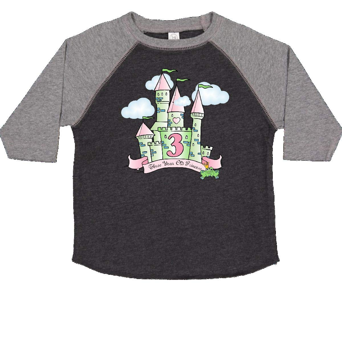 inktastic Castle 3rd Birthday Princess Toddler T-Shirt