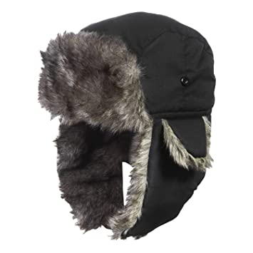 dd0ed286c80 MeOkey Winter Windproof Hat with Ear Flaps Men   Women Waterproof Warmth  Cap Black