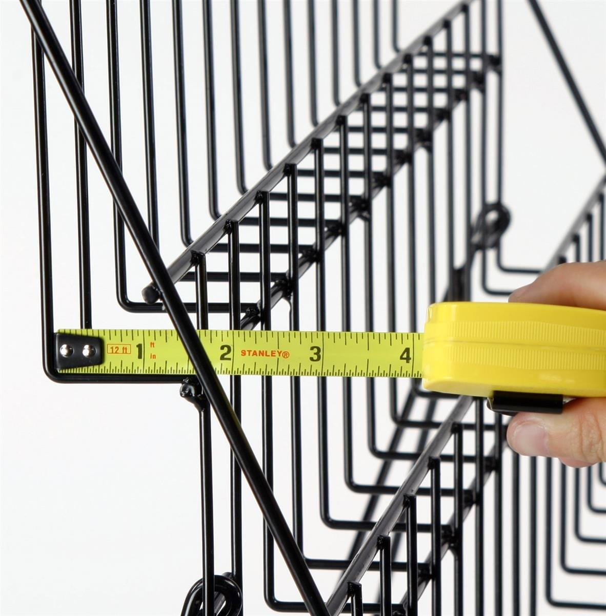 Displays2go Countertop Brochure/Magazine Rack, 6-Tier Organizer, Black Steel (WRC6T2915) by Displays2go (Image #3)