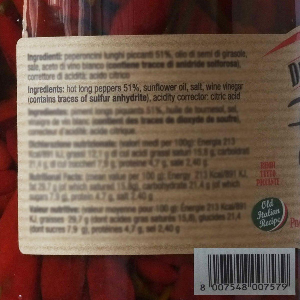 Hot calabrian Chili Pepper – Italiano en aceite 32,4 oz ...