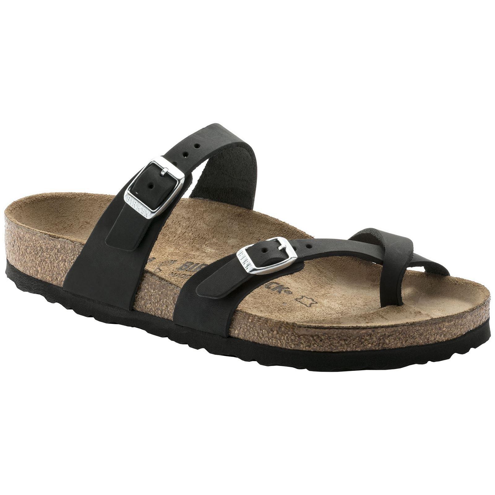 Birkenstock Womens Mayari Black Nubuck Sandals 38 EU by Birkenstock